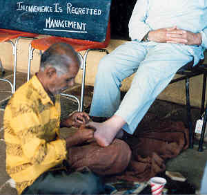 Indian store workers feet 5